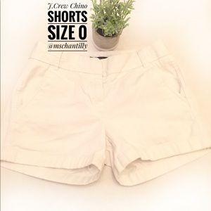 J.Crew White Chino Shorts Size 0 NWOT